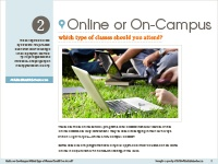 online or on campus guide cover